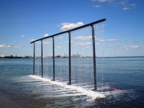 Marianne Jørgensen 'Water Curtain', Sculpture by the Sea, Aarhus