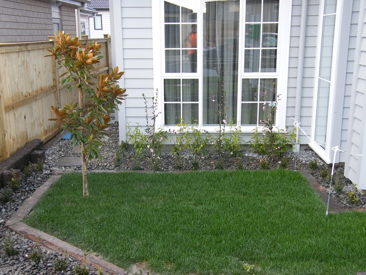 Show home garden newly installed not yet established