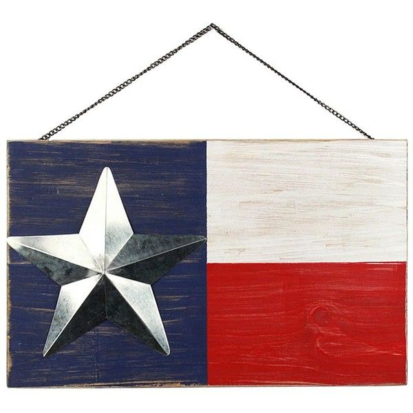 Americana Texas Flag Wall Decor ($10) ❤ liked on Polyvore featuring home, home decor, wall art, wooden home decor, americana home decor, wooden flag wall art, texas wall art and wood home decor