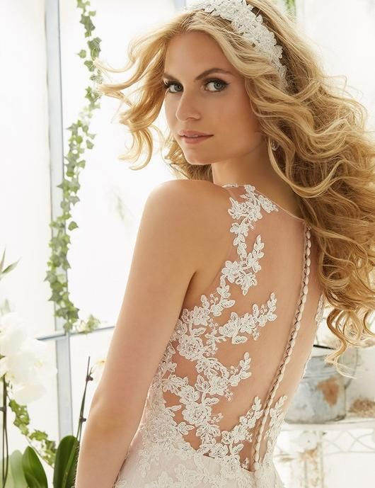Lace tiered Wedding Gowns at Bling Brides Bouquet online Bridal Store