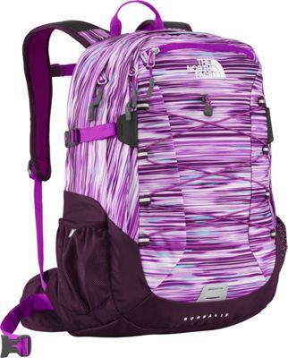 The North Face Women's Borealis Laptop Backpack Black Currant Purple Reflection Print - via eBags.com!