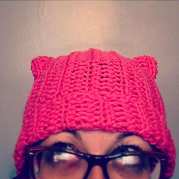 Pussy Hat - Solidarity with Cat Ears by UberDorkDesigns on Etsy