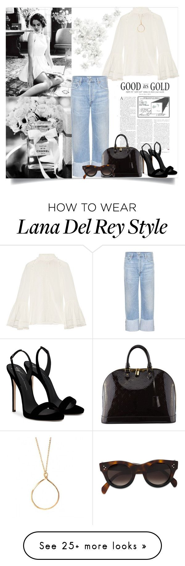 """""""Good As Gold"""" by sherryphoenix on Polyvore featuring Fendi, Citizens of Humanity, Giuseppe Zanotti, Louis Vuitton and CÉLINE"""