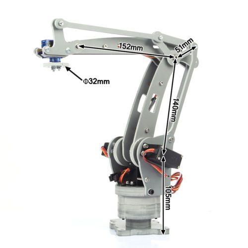 Details about Robot Arm Arduino 6-Axis Servo Control