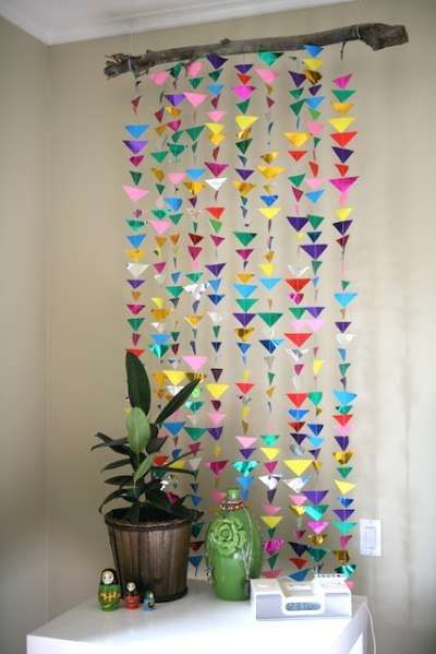 25 unique paper wall decor ideas on pinterest recycled for Paper wall art design