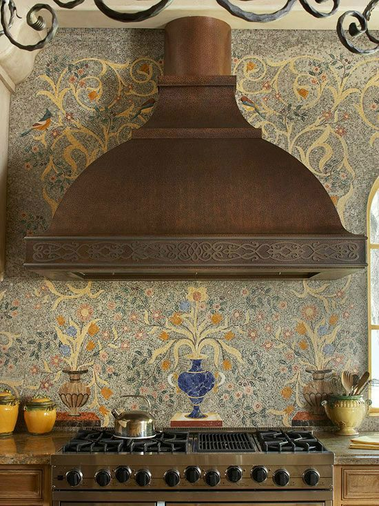 mediterranean Kitchen Backsplash Idea