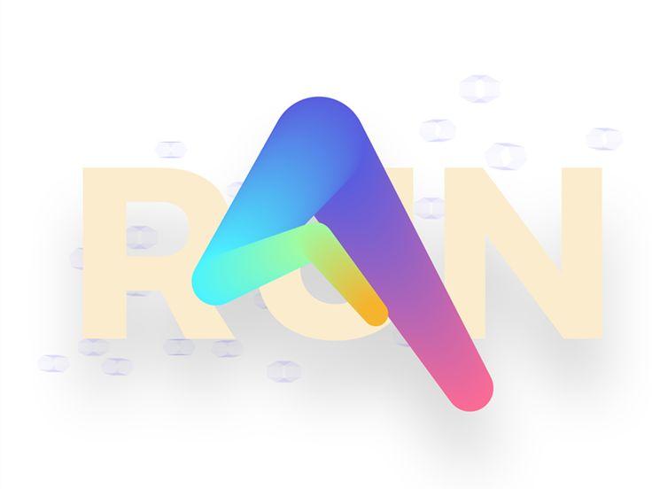 run logo exploration  by Petr Milkov △