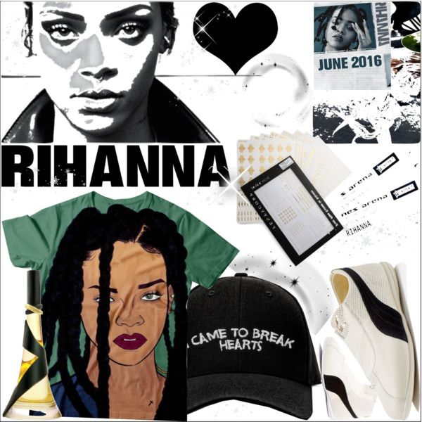 Hot Ticket:Rihanna Concert by dragananovcic on Polyvore featuring moda, Puma, Jacquie Aiche and Manolo Blahnik