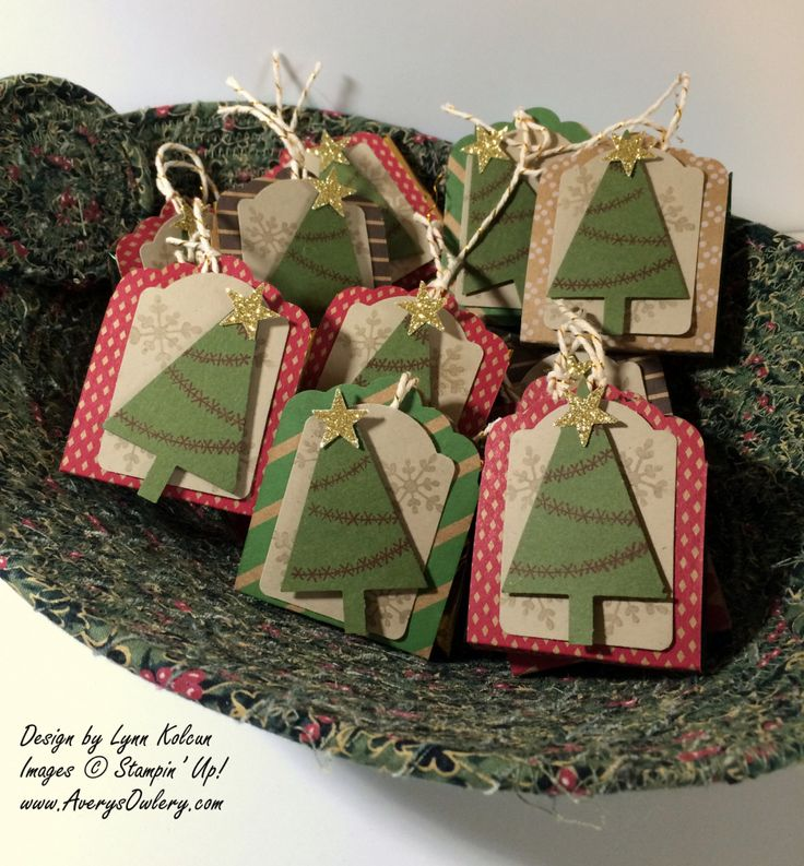 Stampin UP Festive Tree Note tag punch AverysOwlery.com