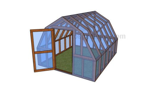 Do It Yourself Home Design: Free Plans For A Barn Style Greenhouse