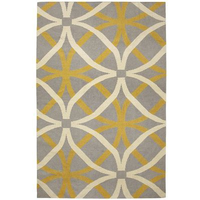 Yellow Circles Dhurrie Rug
