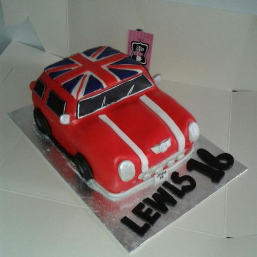 Classic Car Cake For 16th Birthday Sweet 16 Cake Ideas For