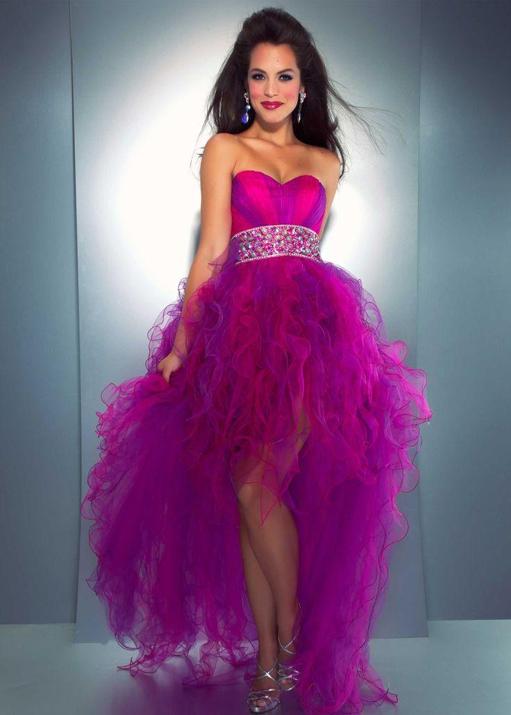 Neon Orange Prom Dress Mac Duggal Fashion Dresses