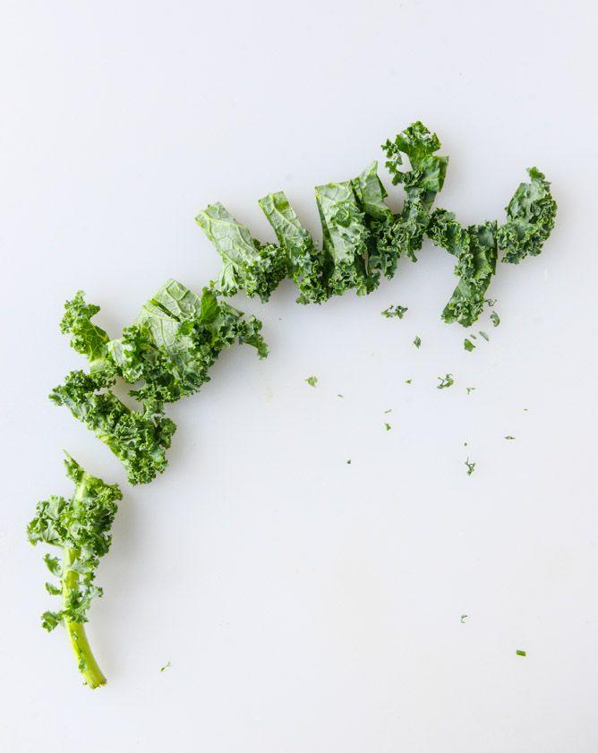 Chili Garlic Shredded Kale Salad… with Fried Chicken. Yep.