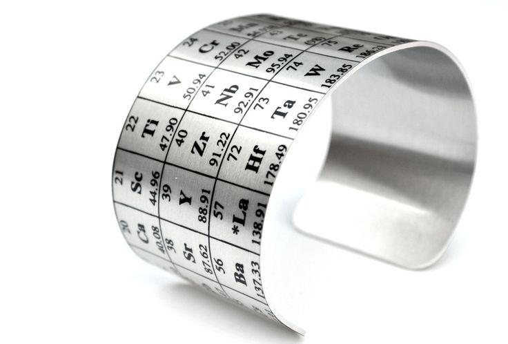 Periodic Table of Elements Aluminum Cuff