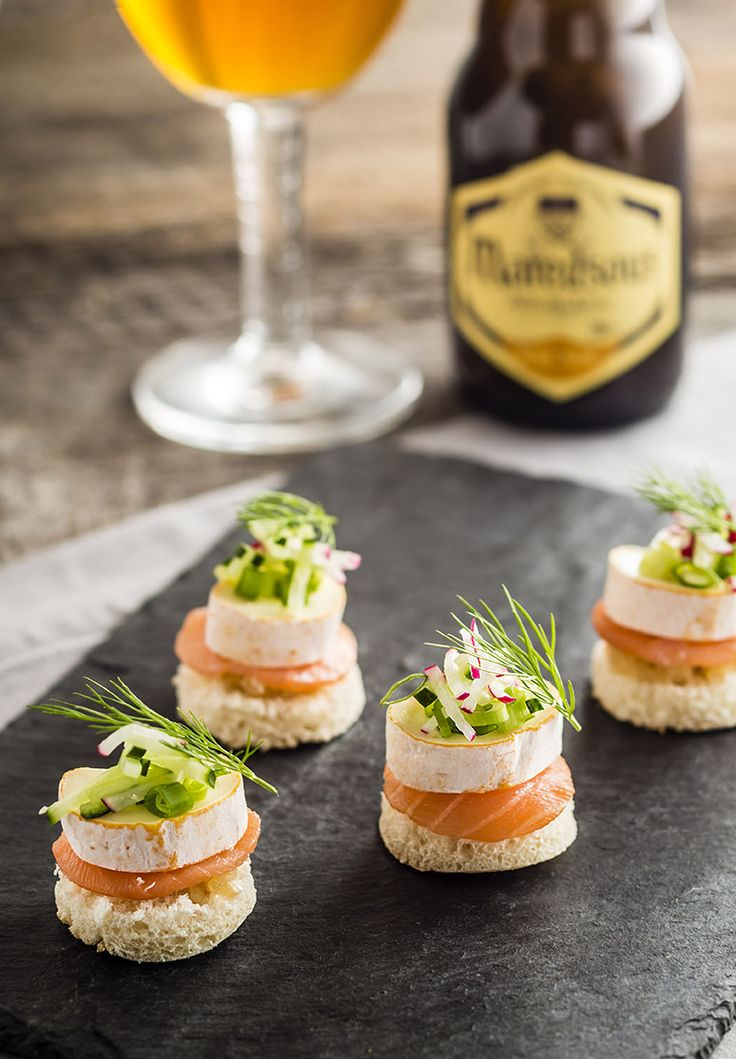47 best yummy apero images on pinterest appetizers with for Canape au fromage
