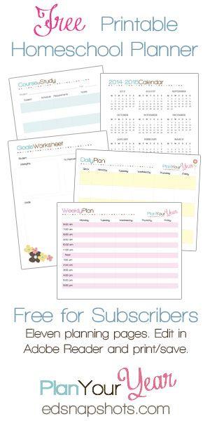 Free Printable Homeschool Planner - Money Saving Mom®