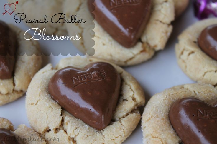 Peanut Butter Blossoms Valentines Cookie Recipe Peanut