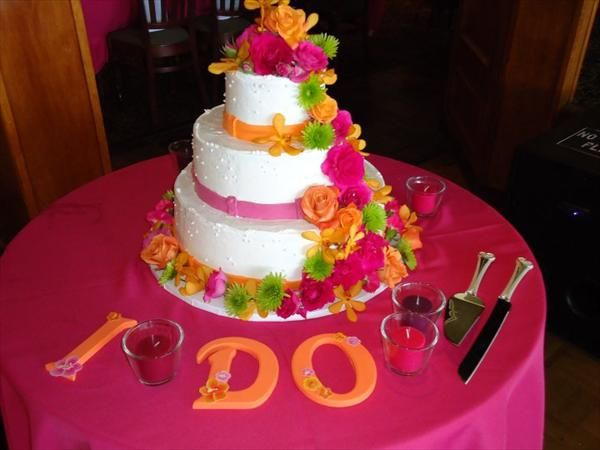 hot pink wedding cake ideas 168 best images about pink amp orange wedding 15341