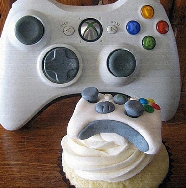 Xbox Cake & Cupcakes: Xbox 360, Idea, Cupcakes, Xbox Cupcake, Food, Videogame, Video Games, Xbox Controller, Controller Cupcake