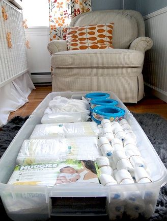 Storage under the crib. Not nappies in particular but make sure you make the most of your space.
