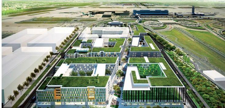 Le projet Coeur d'Orly. ADP cofinance ce futur quartier d'affaires de 170 000 mètres carrés situé en face du terminal Sud.