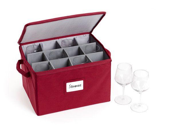 Stemware Storage Box In 2020 Stemware Storage Stemware Mug Storage