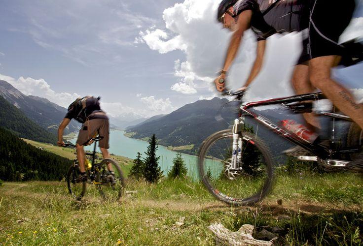 ...bike action in Reschen