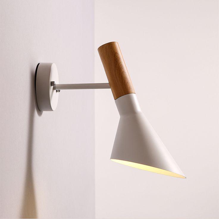 Giro La Cabeza De luz de Lámpara de Pared Creativa de Pared Aplique De Pared De Madera E27 Iluminación del Dormitorio Negro/Blanco Lámpara De Lectura de Cabecera WWL042(China (Mainland))