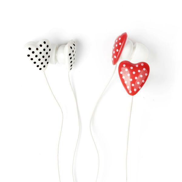 PolkaDot Sydän -Nappikuulokkeet | Cybershop
