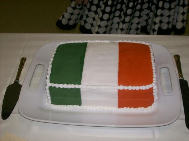 Irish Flag Cake The Cake Is Red Velvet With Fondant