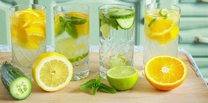 4 идеи освежающих напитков, подходящих для любой диеты. Лайм, мята, огурец, лимон и апельсин = здоровье и вкус. #диеты