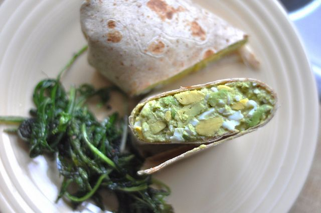Egg avocado wrap