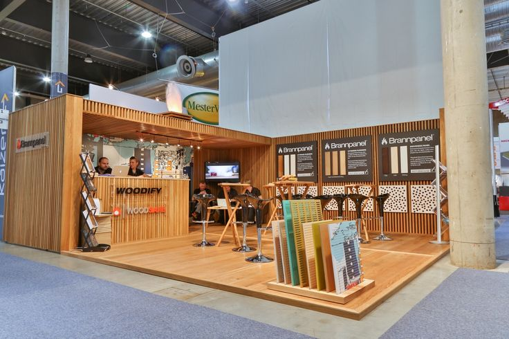 Exhibition stand, Woodify, Bygg Reis Deg 2013. Solid wood, oak, fire retardant treated wood, Brannpanel.