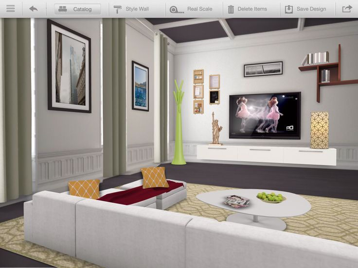 High tech living room  Diseños Homestyle Autodesk ...