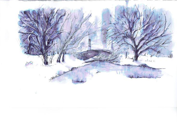 Boston in the winter, china