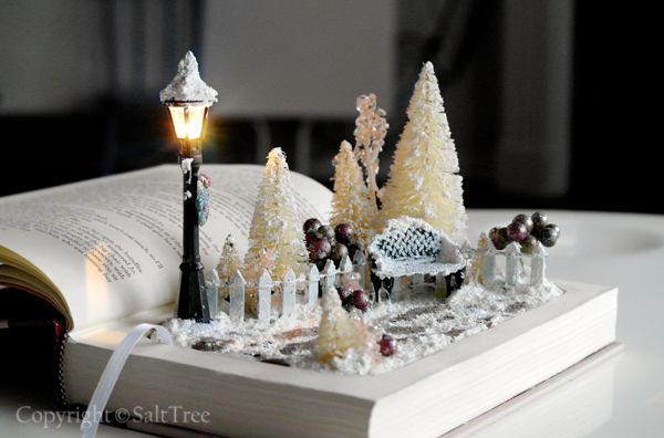A Magical Christmas Scene in a book