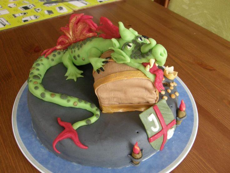 Afbeeldingsresultaat voor draak efteling taart