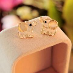 Cute Elephant Opal Stud Earrings