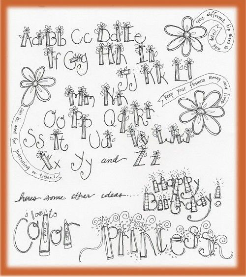 hand lettering alphabet - Google Search caligrafia letras