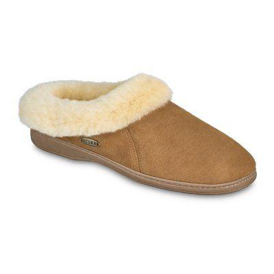 Acorn Womens Ewe Collar Sheepskin Slippers Tan, Size: 10 - A10879BEZW10