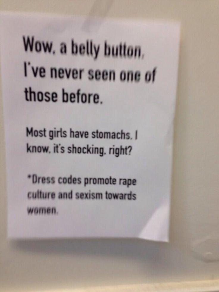 protest fuck yeah sexism feminism rape culture dress code