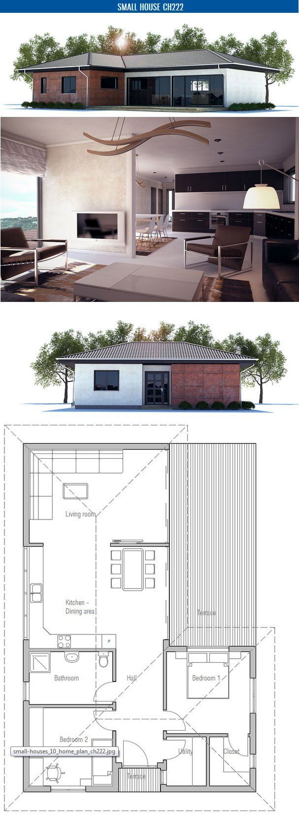 67 best floor plans images on pinterest architecture small small house plan to narrow lot with two bedrooms open plan vaulted ceiling in