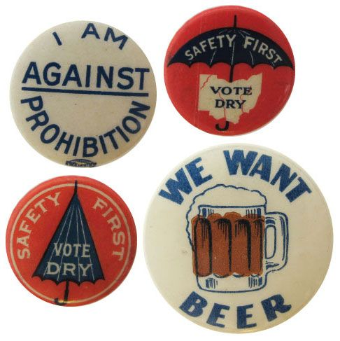 Prohibition era buttons! @kelbennett