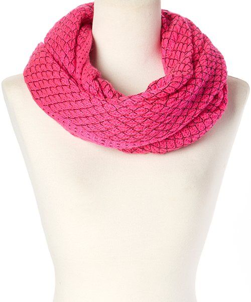 Look at this Betsey Johnson Neon Pink Net Worth Infinity Scarf on #zulily today!