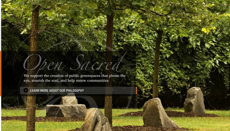Open Spaces, Sacred Places subscribes to the idea that human beings need the natural world in order to thrive.