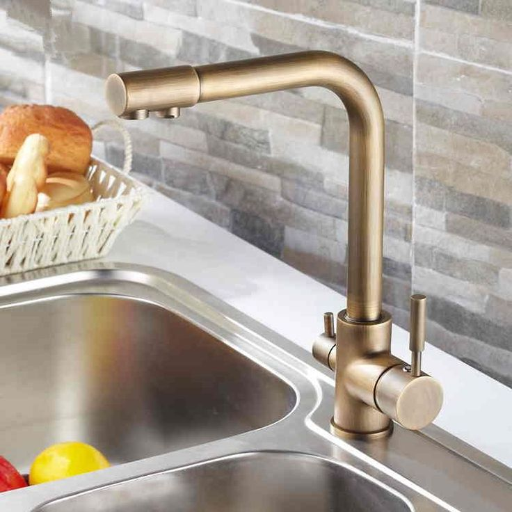 Wholesale cheap antique kitchen faucet online, Deck Mounted   - Find best  2015 Wholesale New Arrival Free Shipping Antique Brass Kitchen Faucet Sink Mixer 3 way water filter tap at discount prices from Chinese Kitchen Faucets supplier - sinoexpress on DHgate.com.