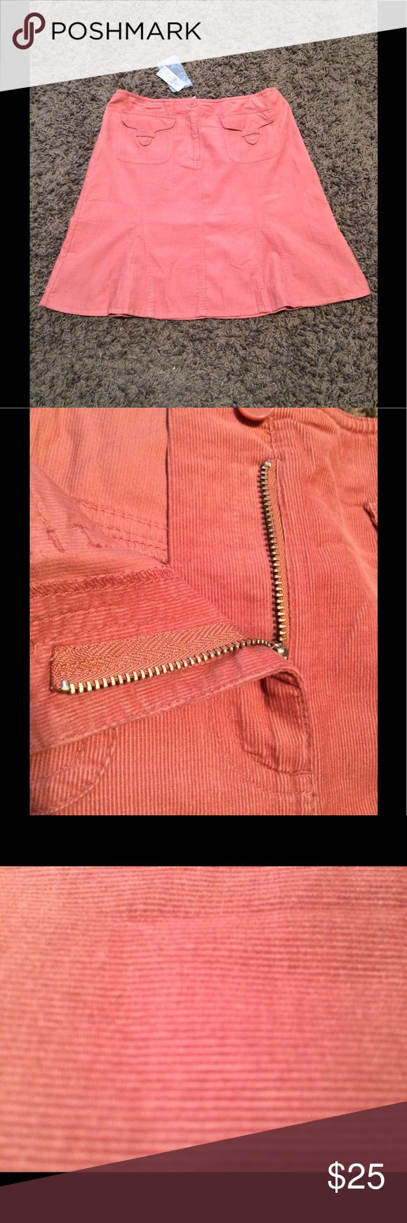 """NEW Ann Taylor Loft Skirt Size 6 New with tags and pink in color. The material appears to be corduroy """"like"""". Measures 19"""" from top to bottom.. Ann Taylor Skirts Asymmetrical"""