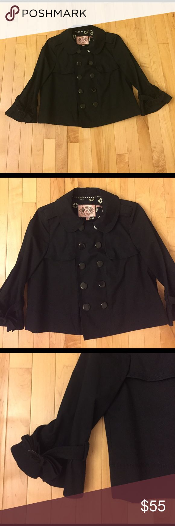 Juicy Couture Black Military Jacket Size M This Juicy Couture black cropped military jacket is in like new condition, only worn once. No stains, rips or odors. Juicy Couture Jackets & Coats