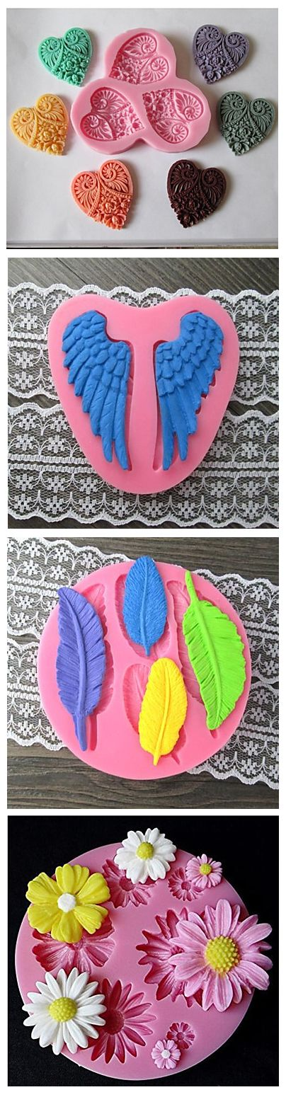 Best gift is a gift made yourself! Bake a delicious dessert for Valentines Day! Heart/ wing shaped  baking mold for creative baking. Click on the picture to see them!